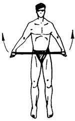 Упражнение 11 с резиновым амортизатором или эспандером
