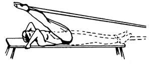 Упражнение 15 с резиновым амортизатором или эспандером