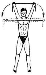 Упражнение 2 с резиновым амортизатором или эспандером